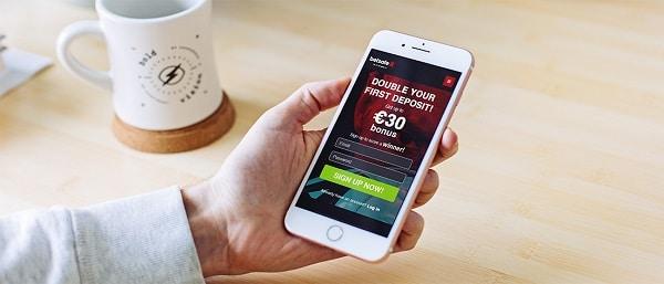 Bet on sports via mobile