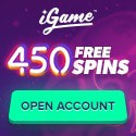 iGame Casino 450 free spins and €1000 welcome bonus