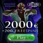 JOY CASINO- 100% up to $/€2,000 bonus and 200 gratis free spins