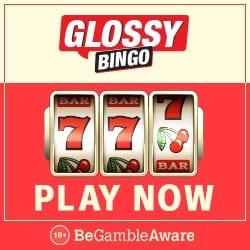 Glossy Bingo Casino 50 slot free spins and £300 bonus on deposit