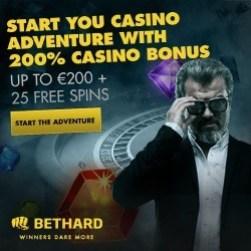 Bethard Casino 100% bonus, free spins, free bets by Zlatan Ibrahimovic!