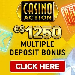 Casino Action €1250 deposit bonus + 100 Microgaming free spins