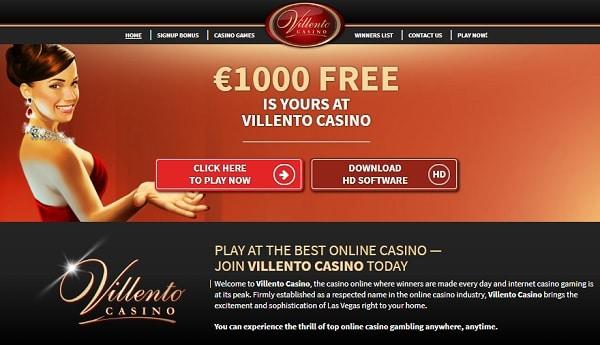 Villento Casino Free Play Bonus