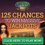 Yukon Gold Casino 125 free spins bonus on jackpot slot Mega Moolah™