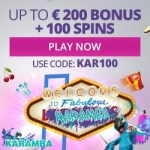Karamba Casino [register & login] 100 free spins + 100% free bonus