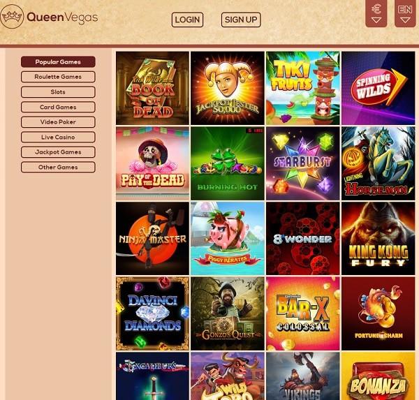 Queen Vegas Casino online and mobile