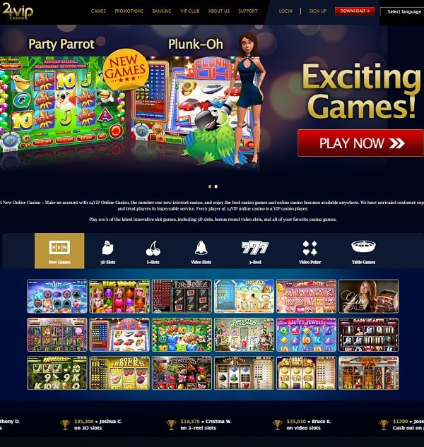 24 VIP Casino review and rating