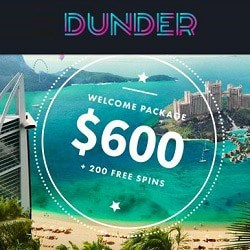 How to get 20 free spins no deposit bonus to Dunder Casino?