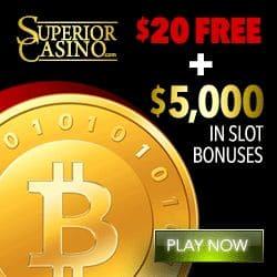 Is Superior Casino legit? Get $20 FREE + $5,000 in slot bonuses