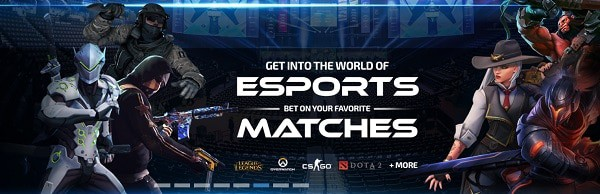 eSports and Casino Games with cryptocurrencies