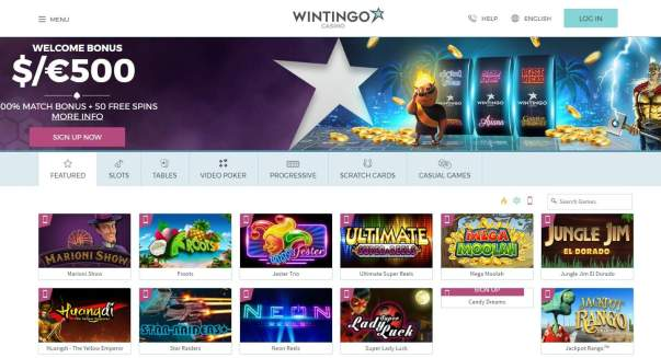 Wintingo Casino 50 free spins - Microgaming