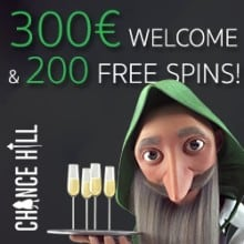 Chance Hill Casino free spins bonus
