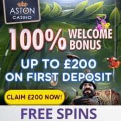 Aston Casino | £200 bonus and no deposit free spins | Big wins!