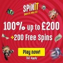 Spinit Casino $1000 and 200 free spins