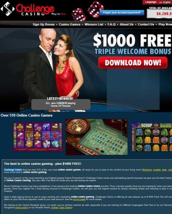 Challenge Casino Review