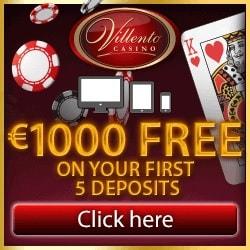 Villento Casino | 100 free spins on Thunderstruck + £€$ 1000 free bonus