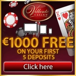 Villento Casino | 100 free spins on Thunderstruck + £€$ 1000 free bonus