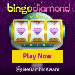 Bingo Diamond Casino 50 free spins + 300% up to £300 instant bonus