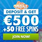 Slotty Vegas Casino™ 50 extra free spins and €500 free play bonus