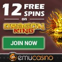 EMU Casino 12 free spins and $500 free bonus