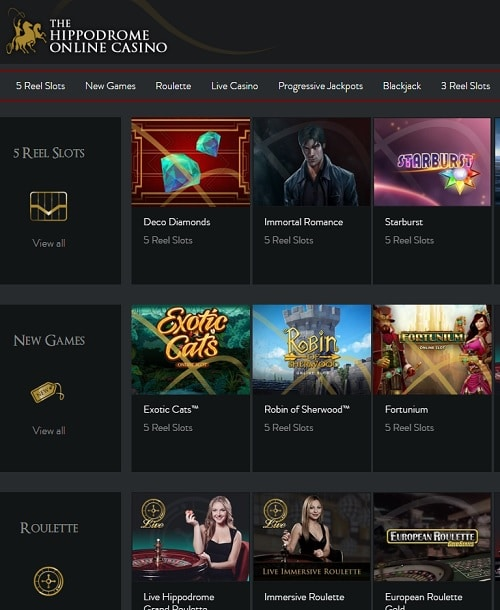 Hippodrome Casino Online