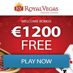 Royal Vegas Casino 100 exclusive free spins + €1200 free bonus chips