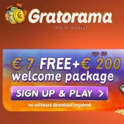 Gratorama [register & login] - 7€ free bonus no deposit required