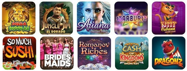 Spin Casino slot machines, table games, jackpots, live dealer