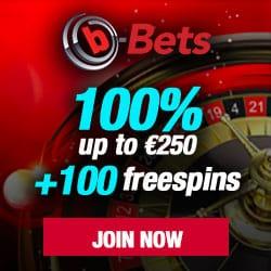 B-Bets.com Casino - 100 free spins and 100% welcome bonus