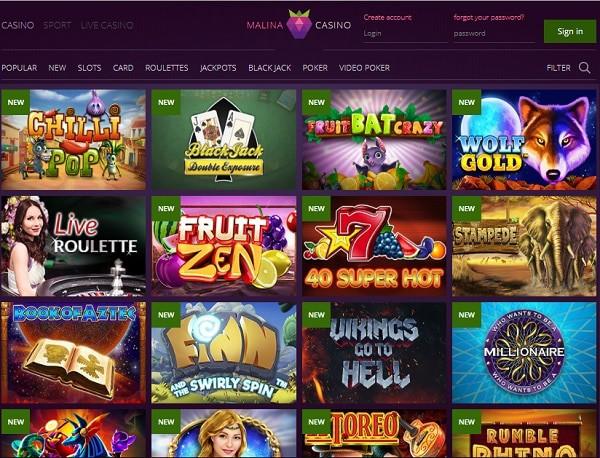 Malina Casino Review