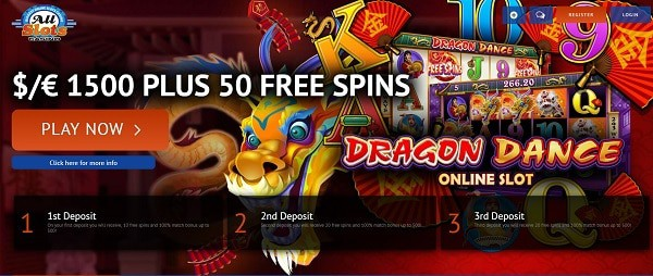 All Slots Casino 50 free spins exclusive bonus for new players