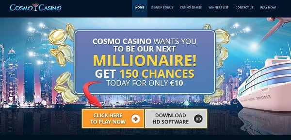 Cosmo 150 free spins