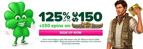 Exclusive Welcome Offer: 125% up to 150 EUR + 150 bonus spins