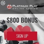 Platinum Play Casino 50 free spins bonus exclusive promotion