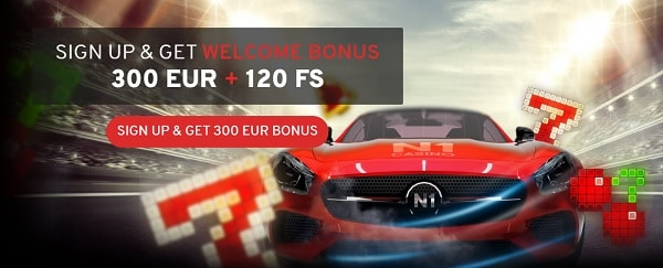 300 EUR and 120 FS in welcome bonus