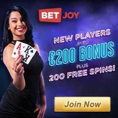 Betjoy Casino - 25 free spins NDB + 200 gratis spins + €200 bonus