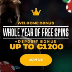 Shadow Bet Casino 520 free spins (all year) and €1200 welcome bonus