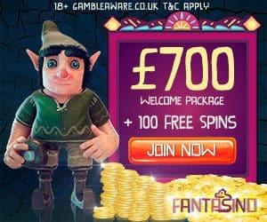 Fantasino Casino - 100 gratis spins and €700 free bonus - mobile OK!