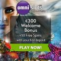 Omni Slots Casino 50 gratis spins and 100% up to €300 free bonus
