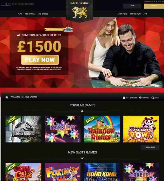 Fable Casino - free spins games