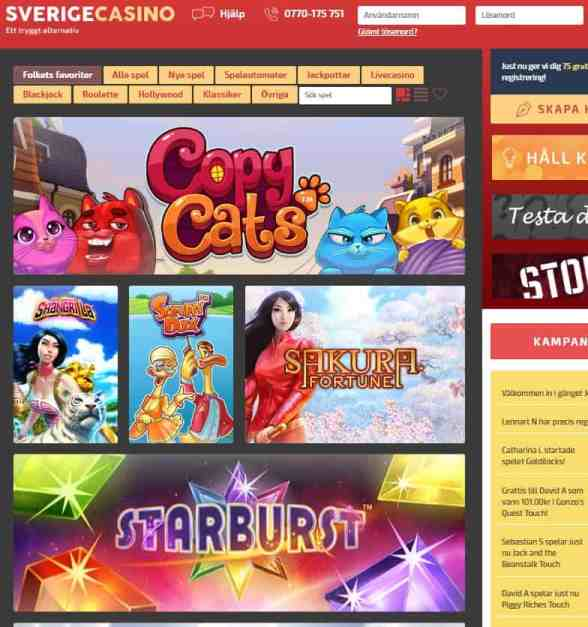 Sverige Casino Free Spins Bonus