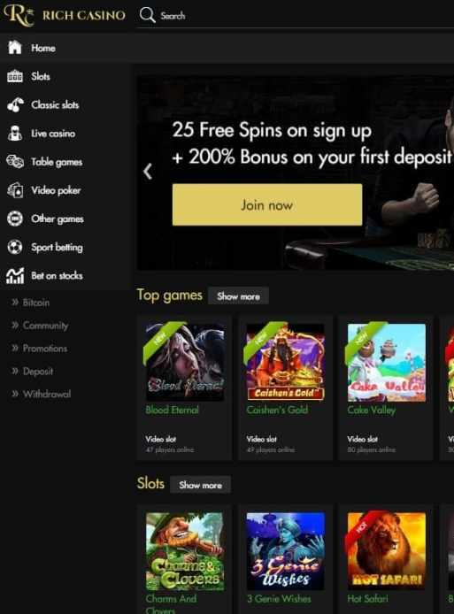 Rich Casino 60 free spins - no deposit bonus code