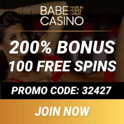 Babe Casino [review] 100 free spins + 400% bonus + €/$3700 gratis