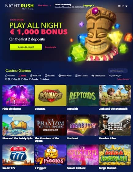 Night Rush Casino Online