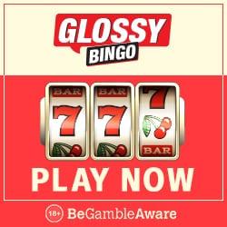 Glossy Bingo Casino - play with 50 free spins and £300 bonus money