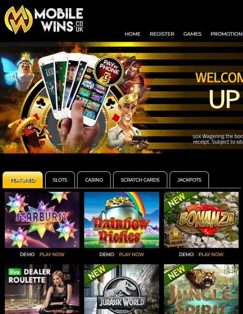 Mobile Wins Casino Review