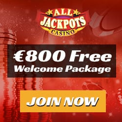 All Jackpots Casino €15 no deposit required + €1600 free spins bonus