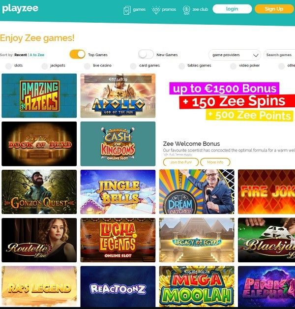 Playzee Casino free spins
