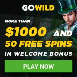 GoWild Casino [register & login] 50 free spins and $1,000 bonus