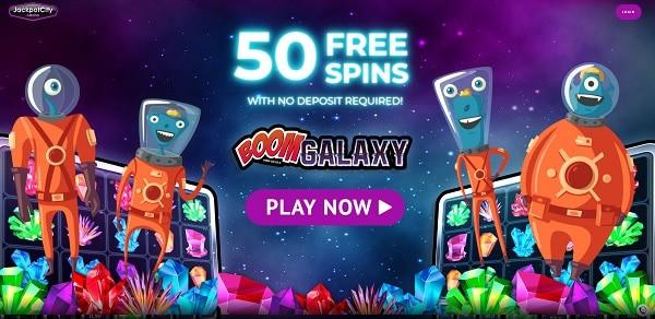 50 free spins no deposit bonus at Jackpot City Casino